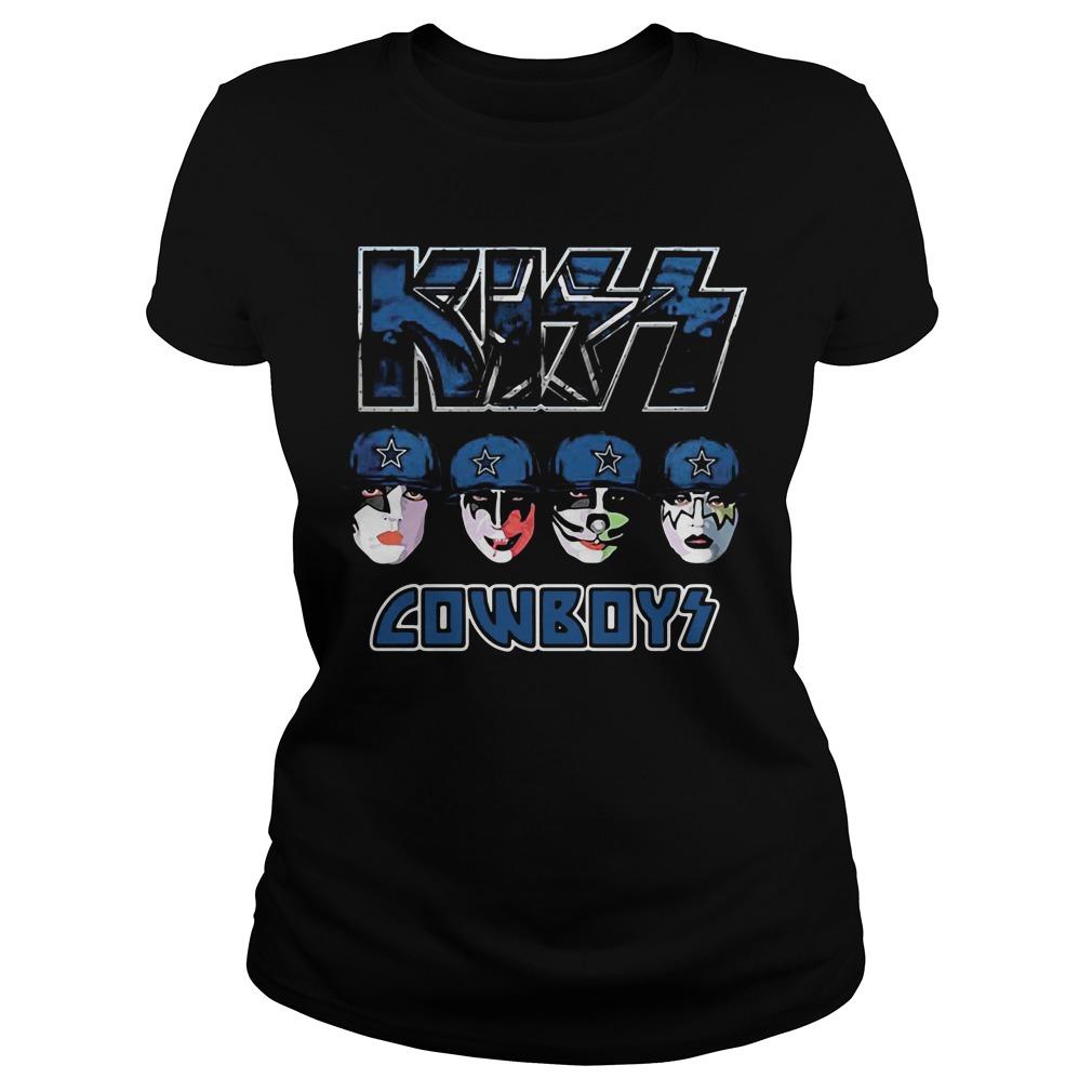 Kiss Hotter than Hell Dallas Cowboys Ladies tee