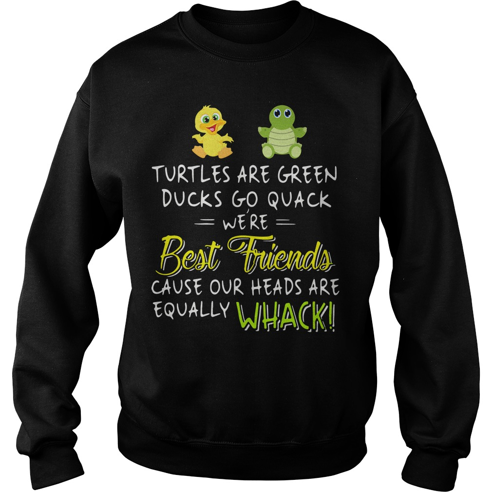 Official Turtles are green ducks go quack we're best friends because Sweater
