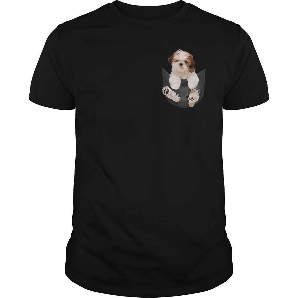 Shih Tzu in your Pocket Guys shirt