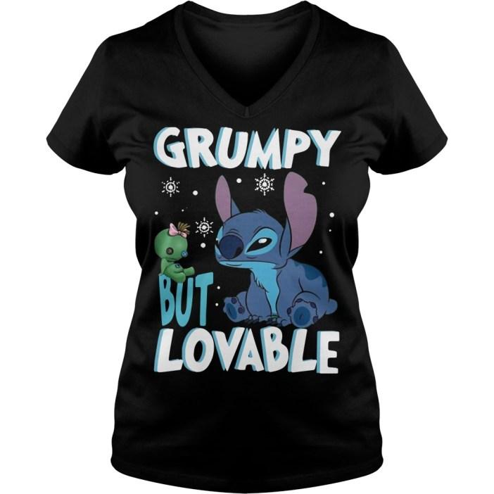 Stitch Grumpy but lovable V-neck T-shirt