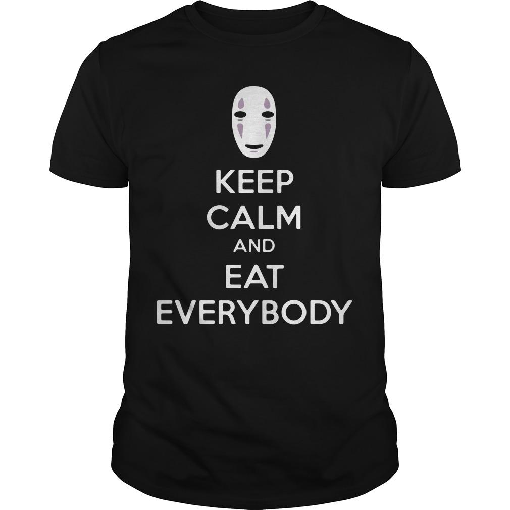 No face keep calm and eat everybody Guys shirt