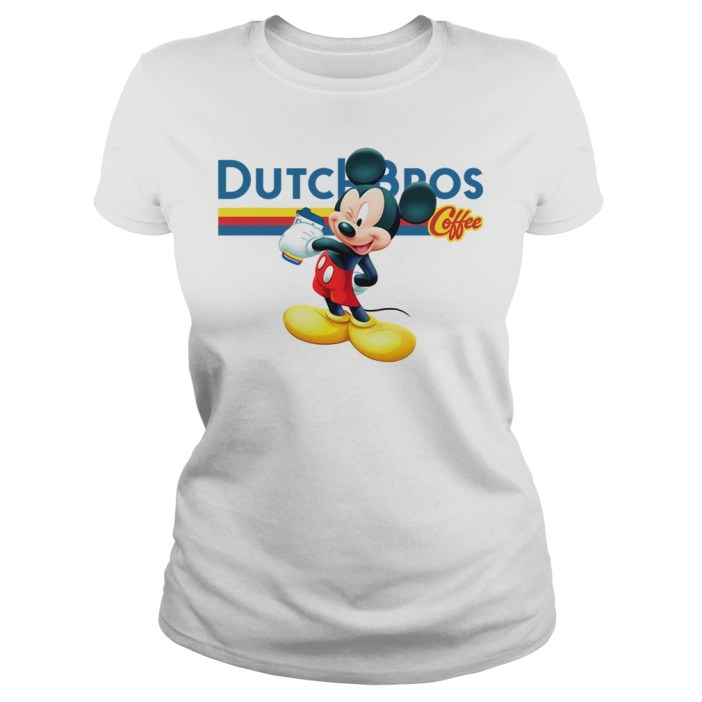 Official Mickey Mouse drink Dutch Bros Coffee ladies tee