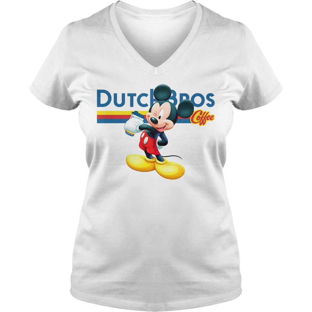 Official Mickey Mouse drink Dutch Bros Coffee v-neck-t-shirt