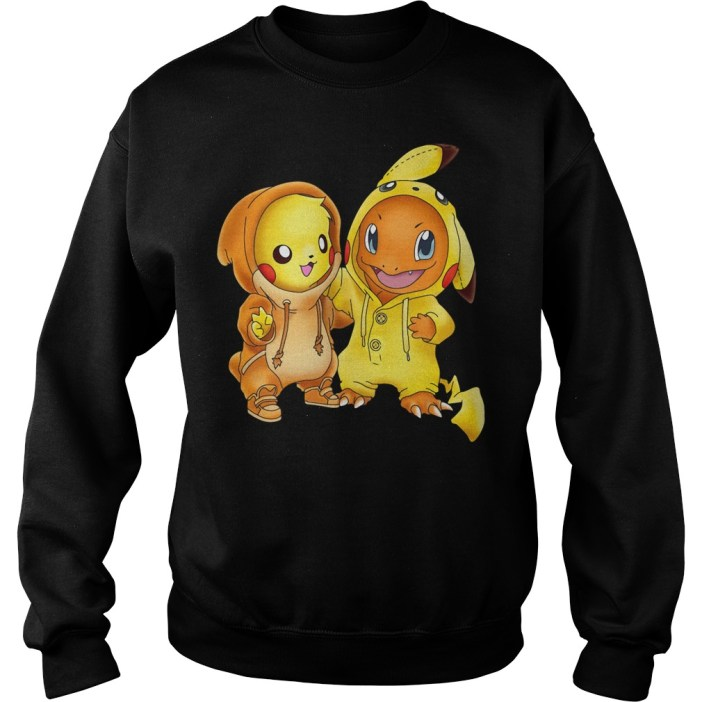 Pikachu and Pikachu Charmander pokemon Sweater