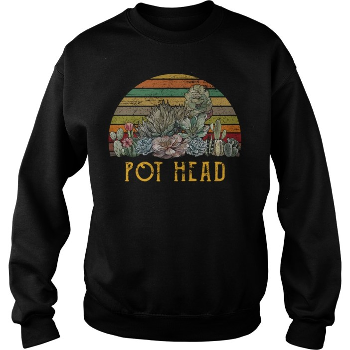 Succulent plants pot head vintage shirtSucculent plants pot head vintage sweater