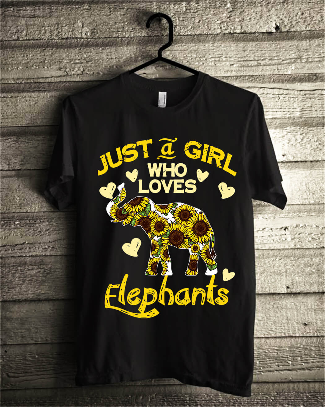 Sunflower Just a girl who loves Elephants shirt