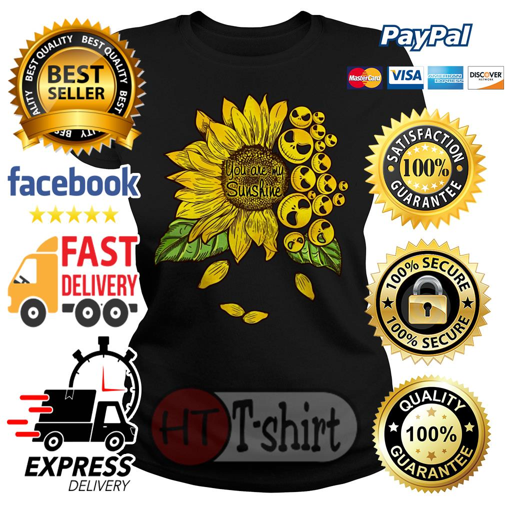 Face Jack Skellington you are my sunshine Sunflower Ladies tee