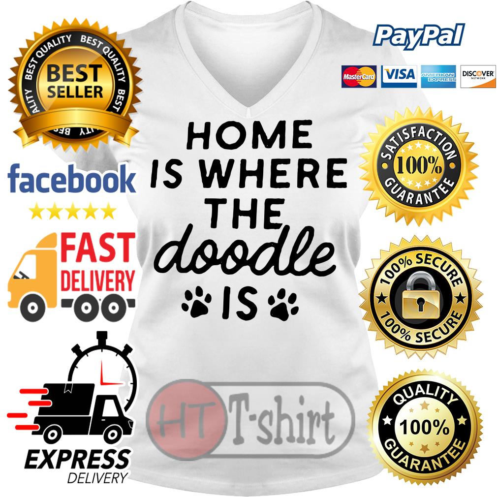 Home is where the Doodle is Dog V-neck t-shirt