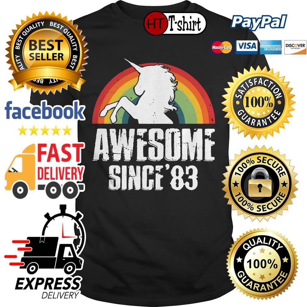 Unicorn awesome since'83 retro shirt