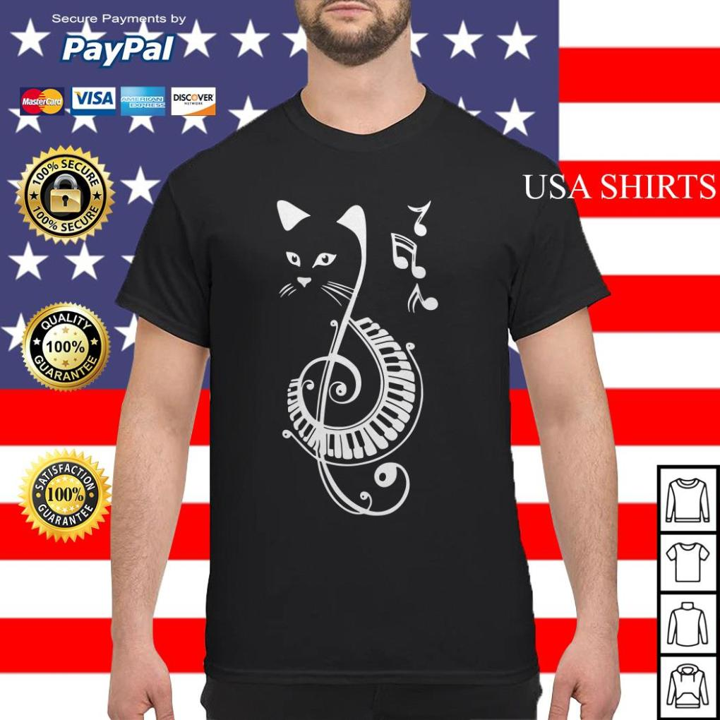 Musical Notes Cat shirt