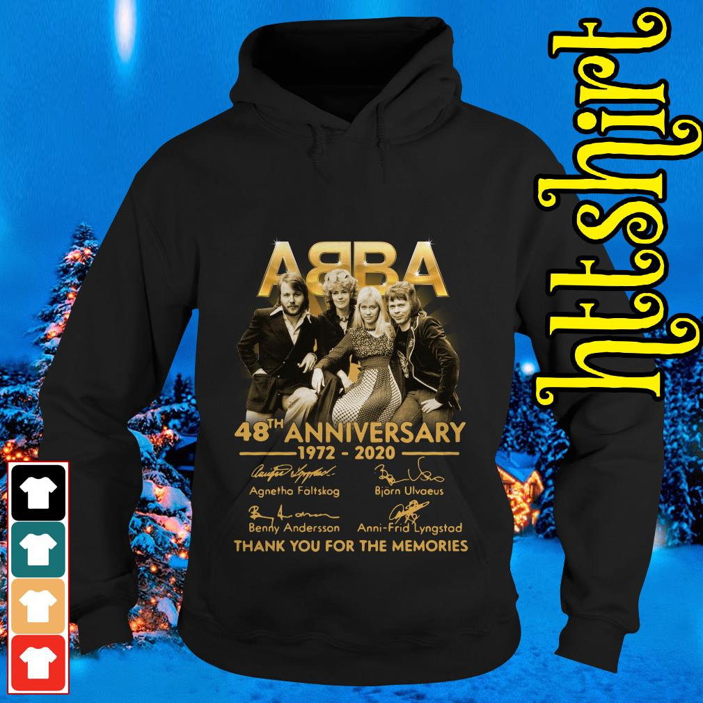 ABBA 48th anniversary 1972-2020 thank you for the memories Hoodie