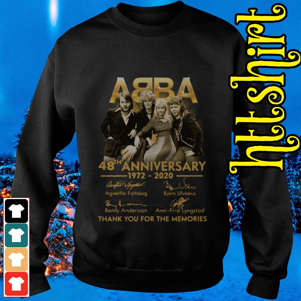 ABBA 48th anniversary 1972-2020 thank you for the memories Sweater