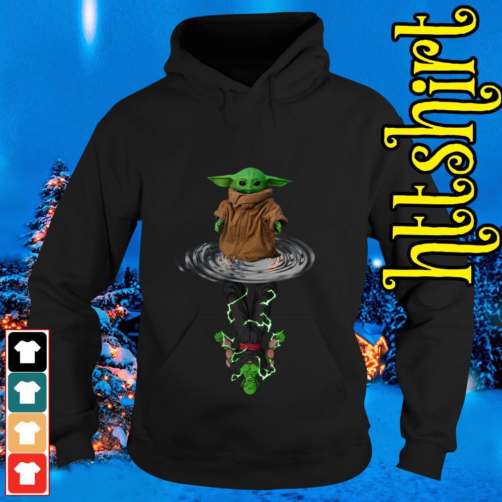 Baby Yoda water reflection Piccolo Hoodie