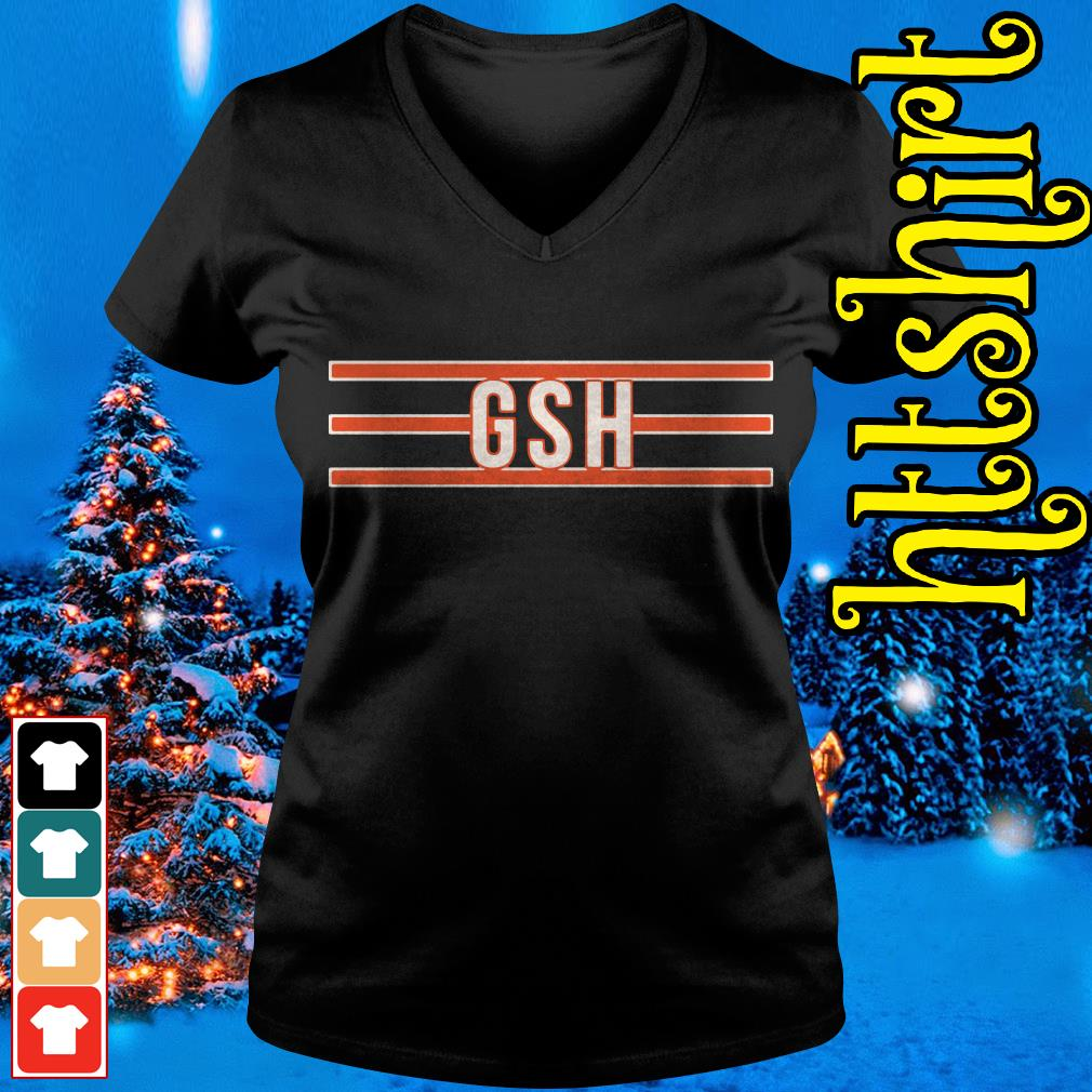 George S Halas GSH Chicago Bears V-neck t-shirt