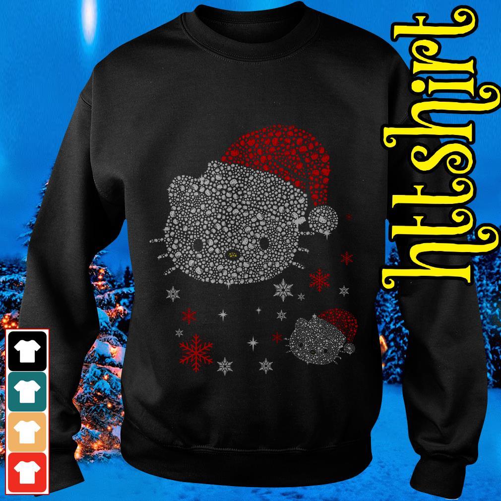 Rhinestone Hello Kitty Christmas Sweater