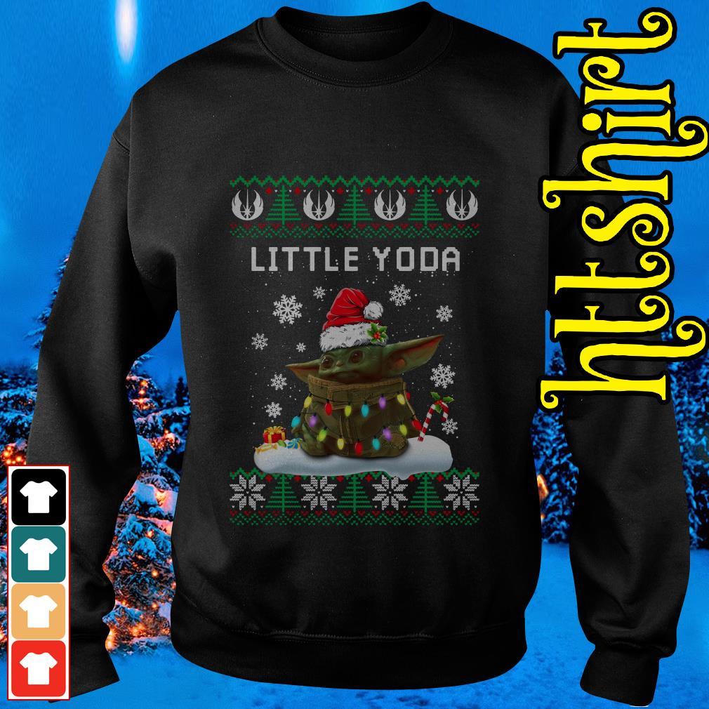 The Mandalorian little Yoda ugly Christmas Sweater
