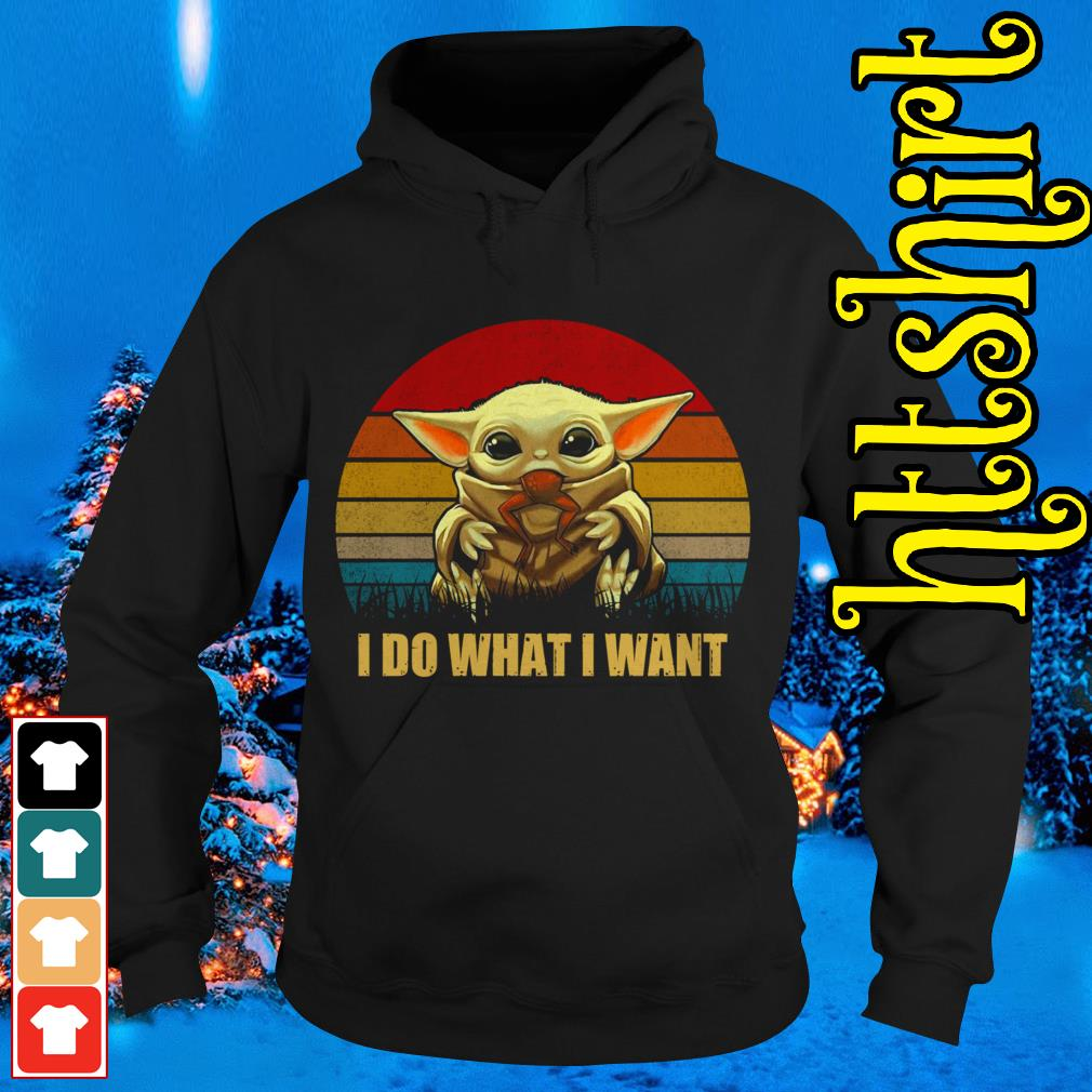 Baby Yoda I do what I want vintage Hoodie