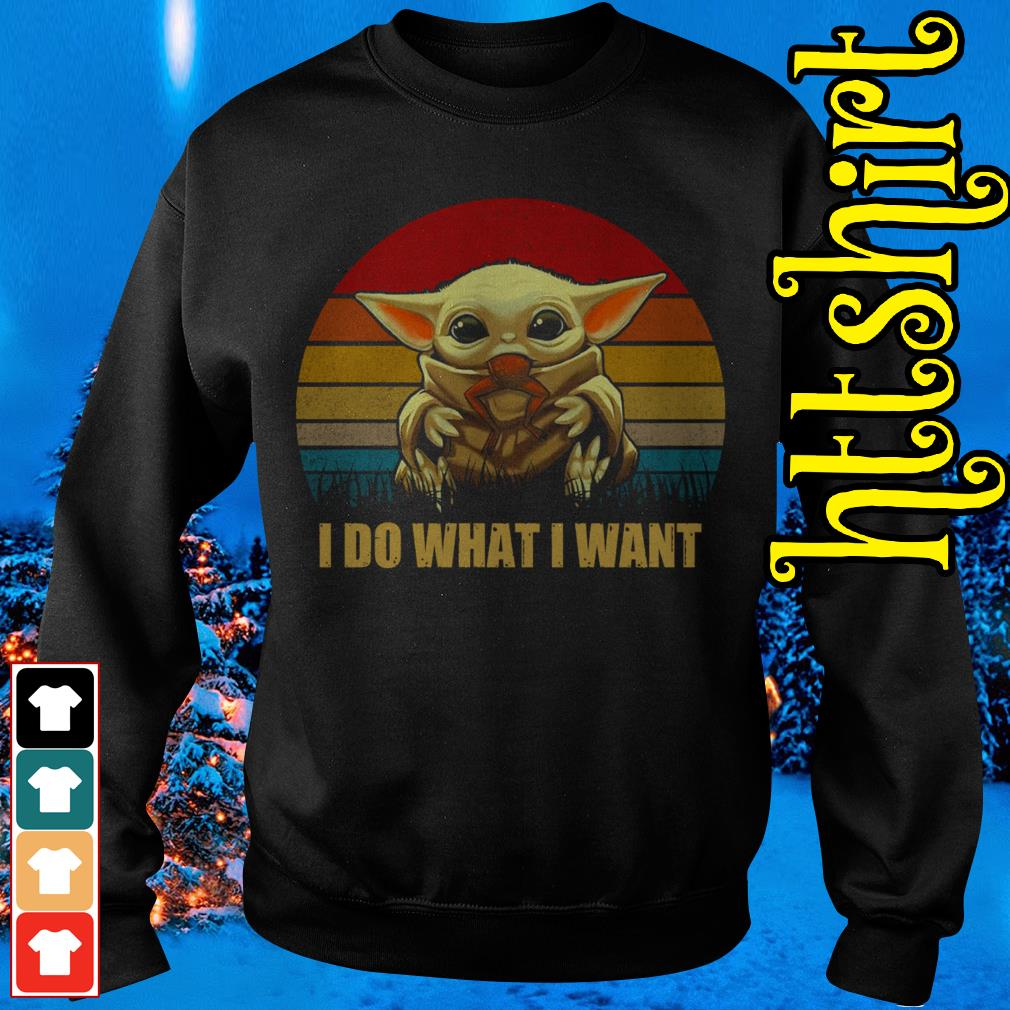 Baby Yoda I do what I want vintage Sweater