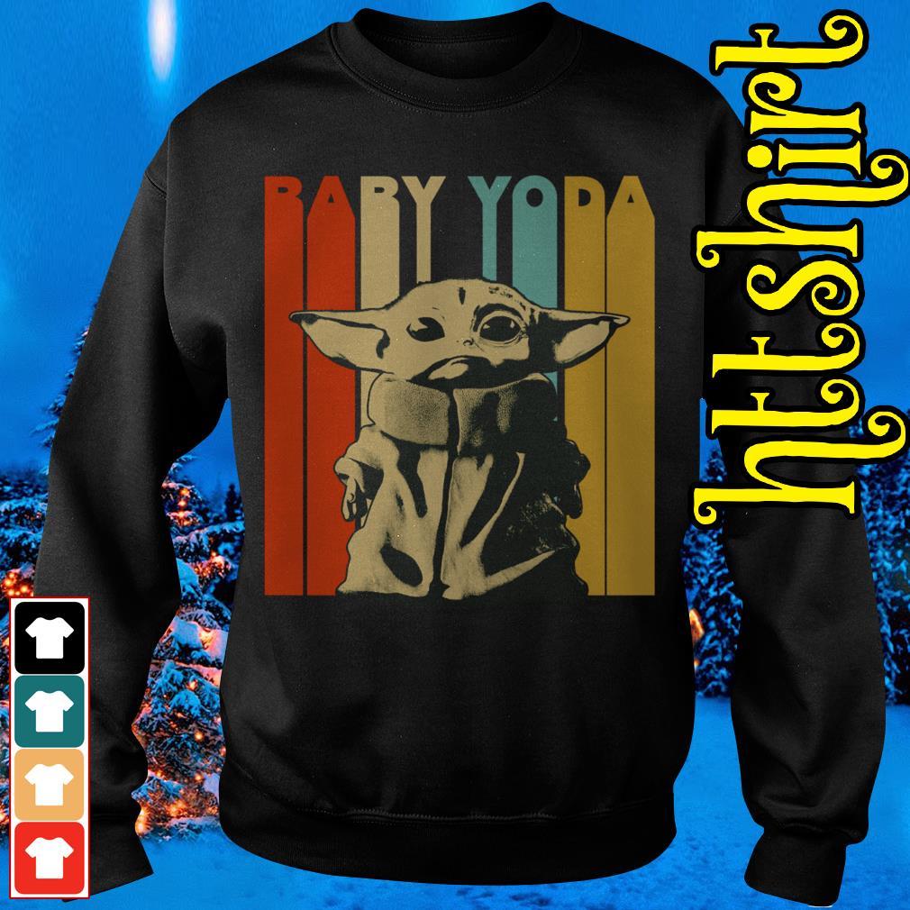 The Mandalorian baby Yoda vintage Sweater