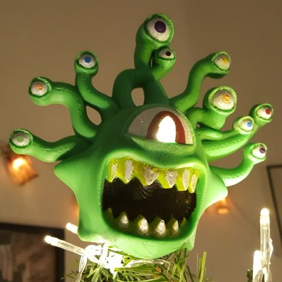 Beholder Dungeons & Dragons Christmas Tree 3D Print 3
