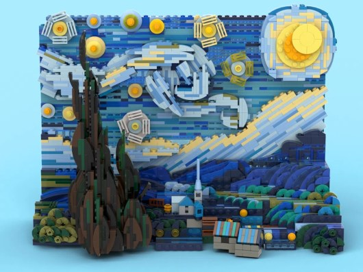 LEGO Vincent van Gogh The Starry Night 11
