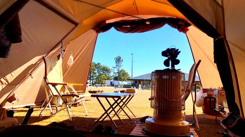 渚園キャンプ場 冬キャンプ