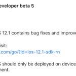 iOS 12.1リリース!?かと思ったが「beta 5」だった…