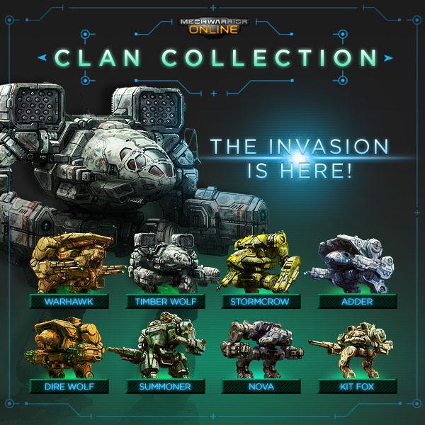 Clan mechs para MechWarrior Online
