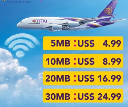 Wi-Fi service on Thai Airways aircraft