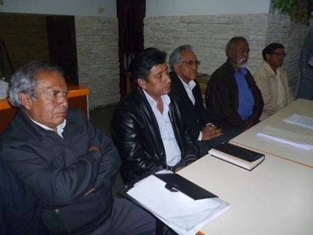 comision del frente de defensa en Huaral