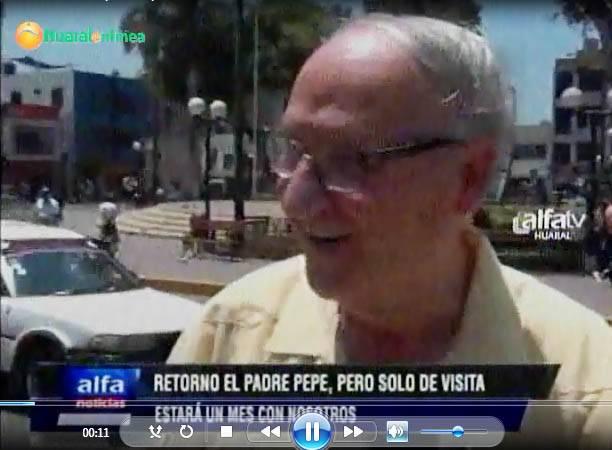 Padre pepe llegada a Huaral