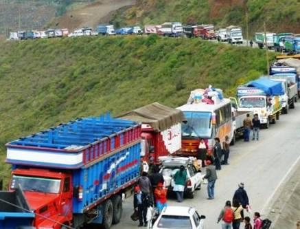 Transportistas de Pasco ya usan rutas alternas para llegar a Lima Huaralenlinea.com