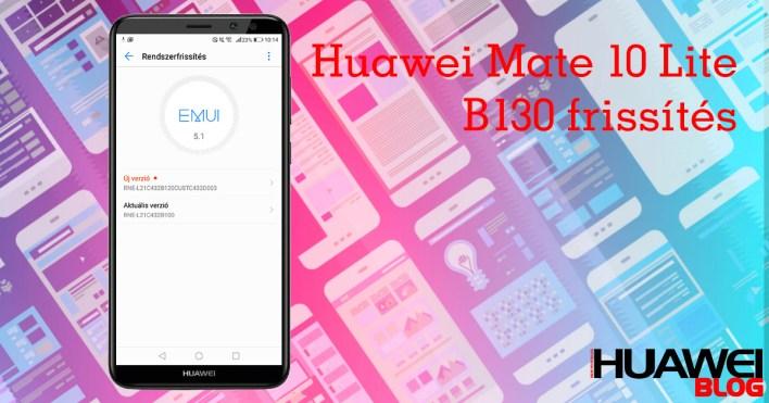 Két frissítést is kapott egymás után a Huawei Mate 10 Lite