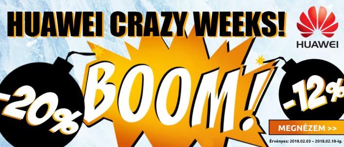Huawei Crazy Weeks a Notebook.hu-nál
