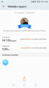 Huawei Fit Medaille rapport