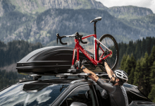 Roof mounted bike carrier from Peruzzo