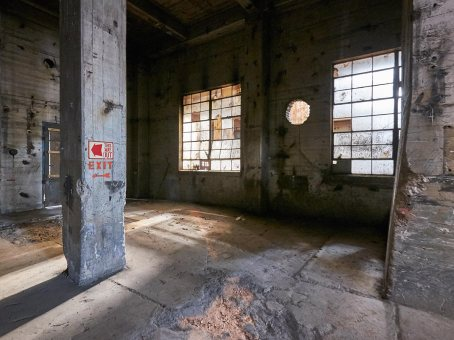 Windows from Inside Bailey Power Plant