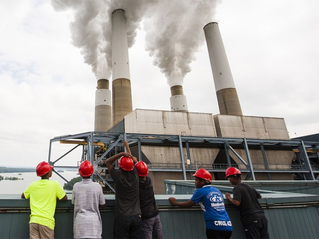 Students of the SciTech program explore the Duke Energy plant