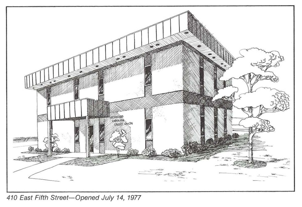 Drawing of the Fifth Street branch which opened in 1977.