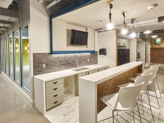 A communal kitchen is one of the amenities of the Innovation Suites.