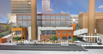 Renderings of the Bailey Power Plant South project from Patterson Ave.