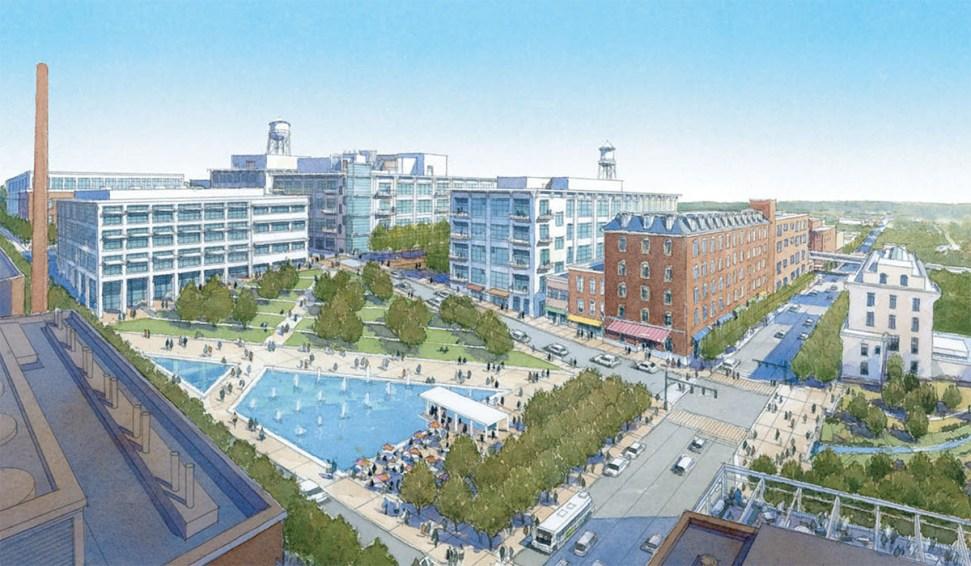 Sasaki master plan for Bailey Park, 2003