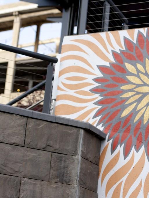 Mural wall, Bailey Park