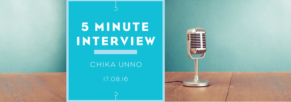 5 minutes with Chika Unno