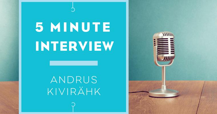 5 minutes with Andrus Kivirähk