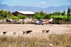 The remote airstrip we landed on near Ans Rouge, Haiti.