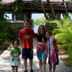 Mei Mei, Jacob, Lana Grace, & Kaydence at the beach in Haiti.