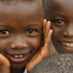 Congolese children helped by MAF's partnership with MEDAIR.