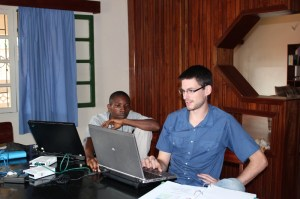 Mission Aviation Fellowship Learning Technologies working in the Congo