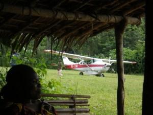 Flight strip in Malebo, Congo